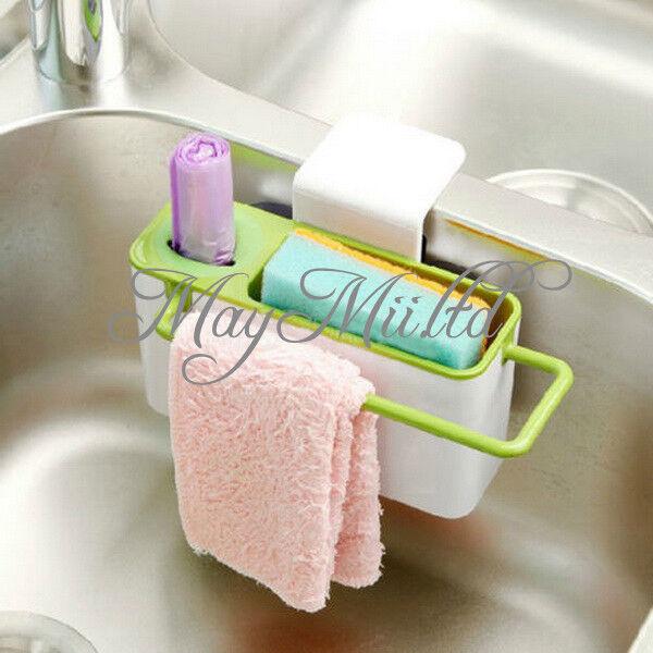 Kitchen Suction Cup Base Brush Sponge Sink Draining Washing Holder Towel Rack I