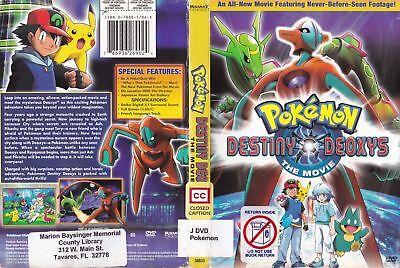 Pokemon Destiny Deoxys Fullscreen Dvd 2005 786936269024 Ebay