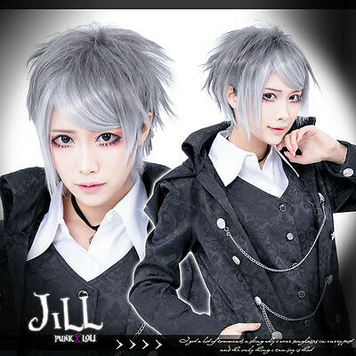 Japan manga cosplay final fantasy silver white airy unisex straight wig JPLH065
