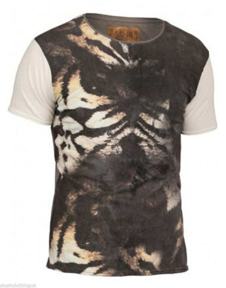 Pearly King Uomo GUINZAGLIO T-Shirt Carbone (PKTS073)