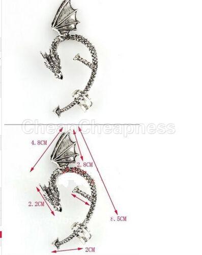 Gothic Metal Dragon Bite Ear Cuff Wrap Vintage Rock Punk Temptation Earring *TR