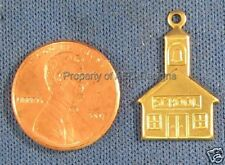 50pc Raw Brass School Inch Measuring Ruler Charms 4689