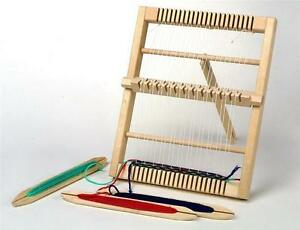 Medium-Size-Traditional-Wooden-Weaving-Loom-amp-Accessories-Childrens-Craft-4701
