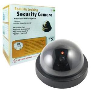 Dummy dome surveillance security camera with led sensor light image is loading dummy dome surveillance security camera with led sensor aloadofball Choice Image