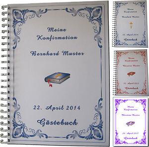 Kleines-Gaestebuch-z-Konfirmation-Karte-Einladung-Geschenk-Symbole-Bibel-Kreuz