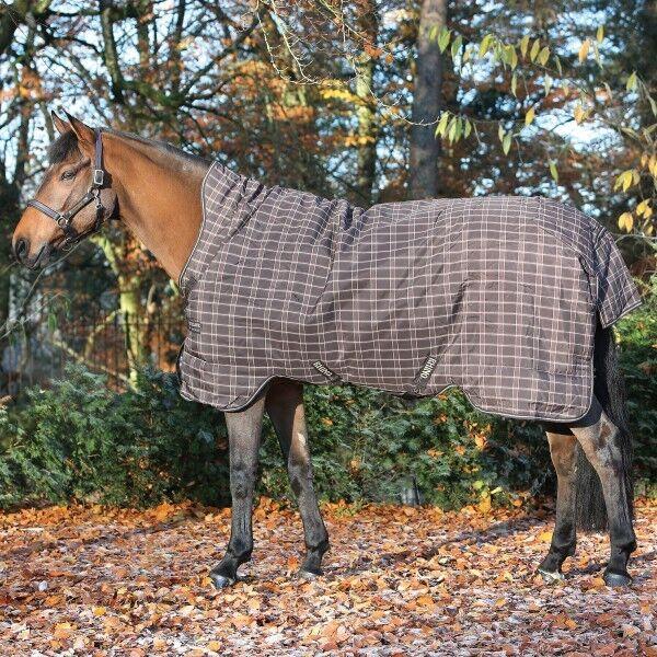 Horseware Rhino wug Turnout Heavy 400g-Chocolate & CREAM CHECK-coperta pioggia