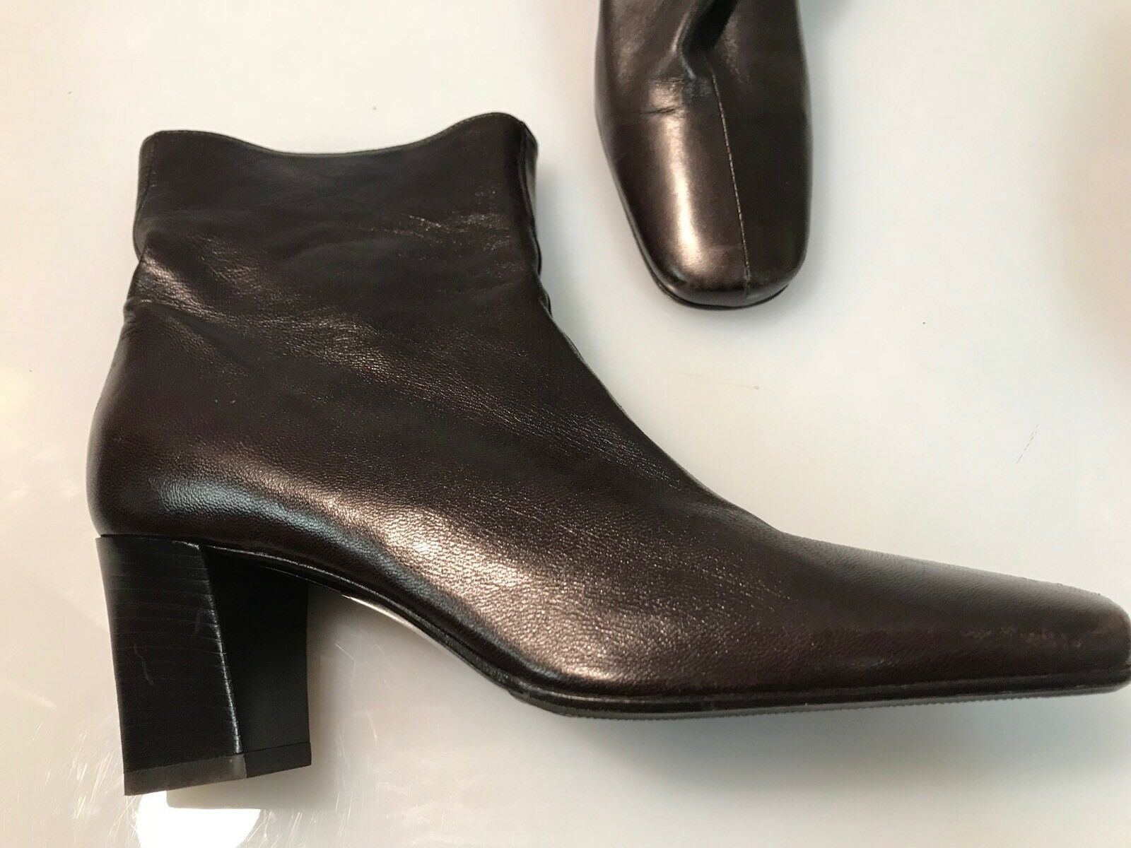 ENRICO ANTINORI Braun Leder Stiefel Größe 36 Italian