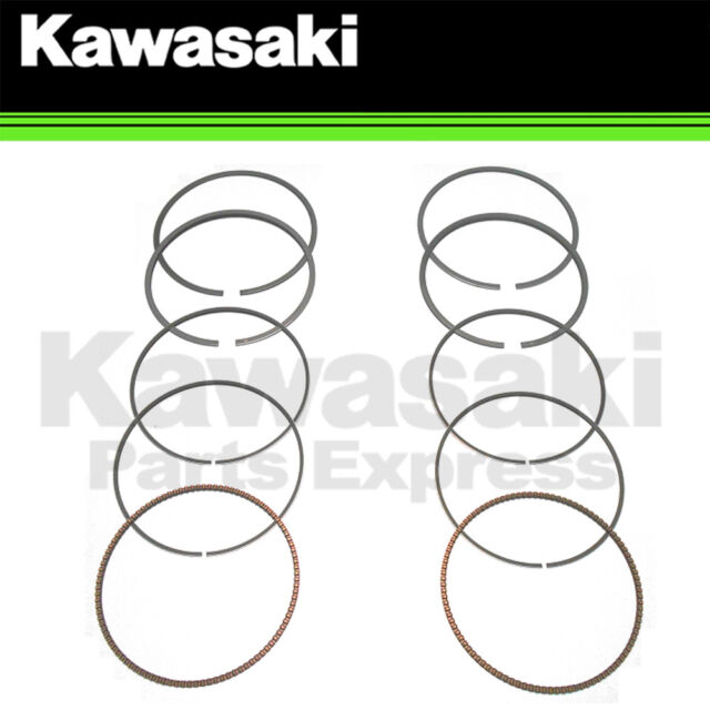 new 2005 - 2011 genuine kawasaki brute force 750 two piston ring set  13008-0040