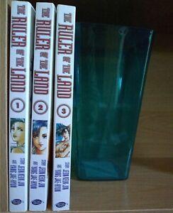 The Ruler of the Land 1-3 Lot of 3 Seinen Manga, English, 13+, Jeon Keuk-Jin