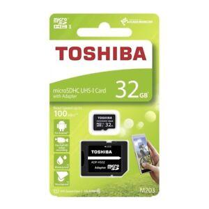 32-GB-SDHC-Micro-SD-Karte-Toshiba-Class-Klasse-10-mikro-Adapter-microSD-Card
