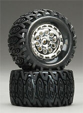 Associated 21065 Wheels Tires Insert Mounted Mini Rival RC18MT / T