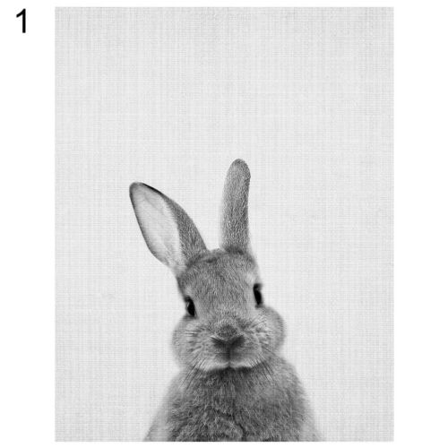 ALS/_ Nordic Rabbit Print Poster Wall Art Animal Painting Living Room Decor Lates