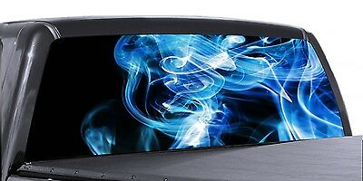 VuScapes Truck Rear Window Graphic Red White Blue 4 SIZES AVIAL