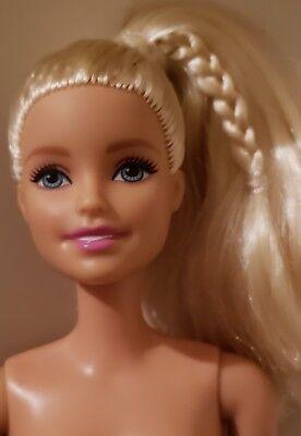 New 2018 Barbie Fashionistas  #99 Sweet Bloom DENIM DRESS