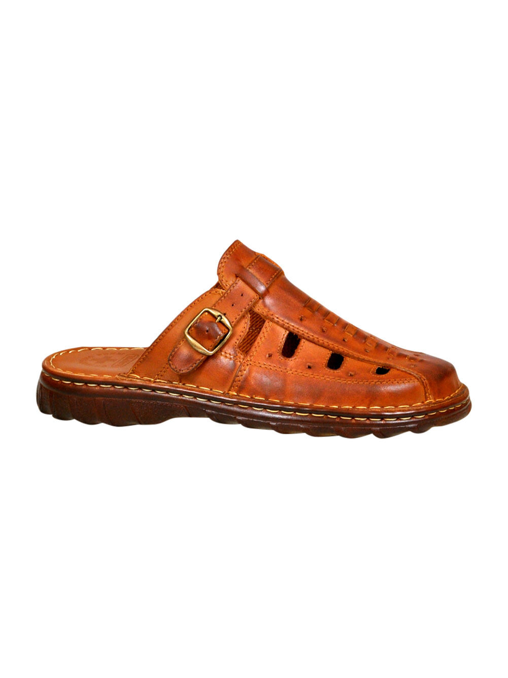 Men Footwear Comfy Orthopedic Sandals Natural Buffalo Leather Shoes UK Size 7-11