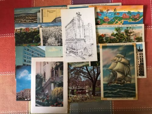 16 Boston, Massachusetts Postcards