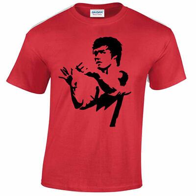 Bruce Lee Guitar T Shirt Enter The Dragon avengers Stark fun tshirt game music