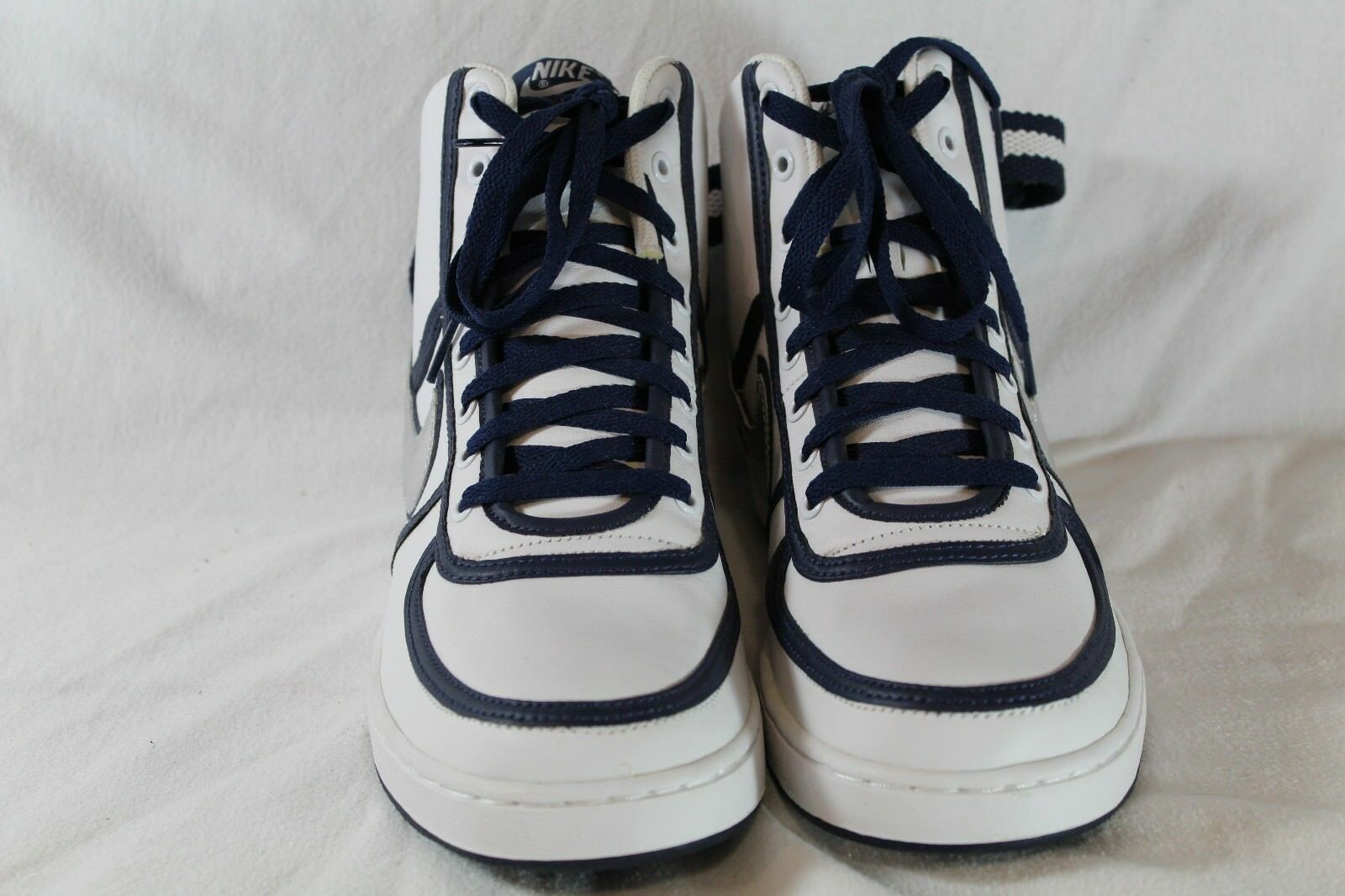 Nike Vandal White Navy Silver Hi Leather DS Brand New Size 10 309427-103
