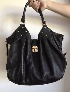 30a0bc7bc0be Image is loading Louis-Vuitton-s-handbag-Mahina-XL-Hobo-Black-