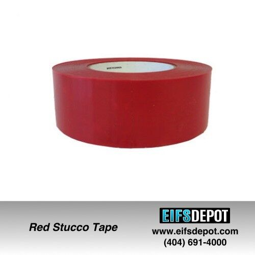 24 Rolls Red Stucco Tape 234 UV Resistant 2″x 60 Yards