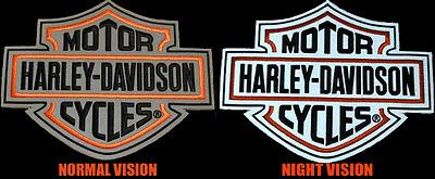 XXL JACKET VEST PATCH HARLEY DAVIDSON REFLECTIVE NIGHT VISION LONG B/&S