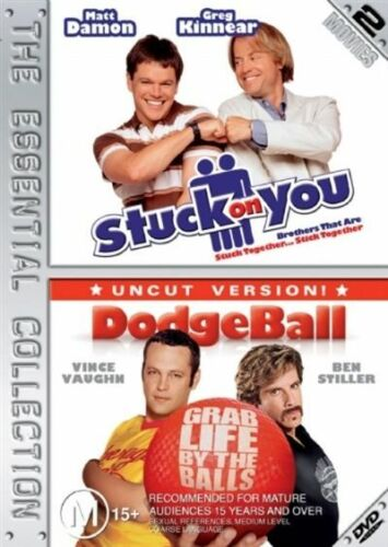 1 of 1 - Stuck On You + Dodgeball - DVD Region 4 VG Condition