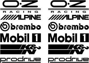 Image is loading 12-Black-Car-Door-Stack-Sponsor-Logo-Stickers-  sc 1 st  eBay & 12 Black Car Door Stack Sponsor Logo StickersGraphicsDecals set 2 ...