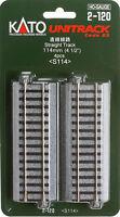 "Kato HO Gauge Unitrack #2-120 - 114mm 4 1 2"" Straight Track 4 pcs Toys"
