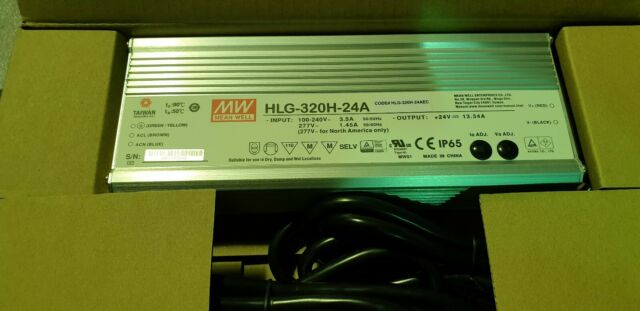 MEAN WELL HLG-320H-24A 320W 24V IP65 LED POWER SUPPLY IP65 LED DRIVER