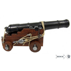 "Naval Cannon Model 18th Century 10.75"" British Navy 1800 Real Rope Breeching New"