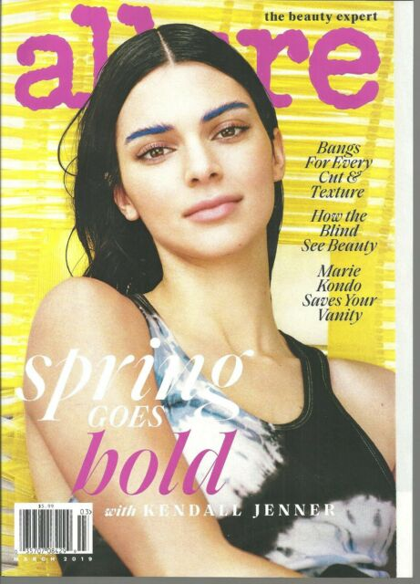 Allure Magazine Kendall Jenner Spring Fashion Hairstyles Bangs Marie ...