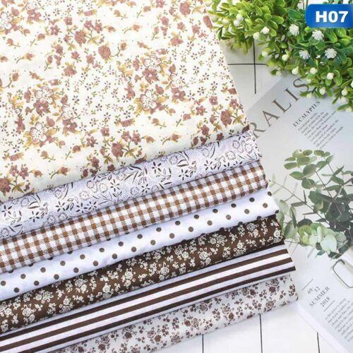 7PC//Set Cotton Fabric Material Bundle Scraps Offcuts Quilting Quilt Fabric d0y
