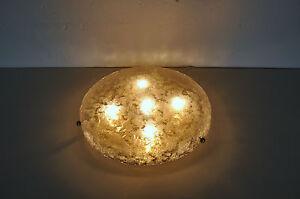 Plafoniere Deckenlampe : Xxl hillebrand ice glass plafoniere deckenlampe lamp shade eisglas