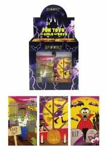 Halloween-Notebooks-Party-Bag-Fillers-Pinata-Toys-Choose-Quantity-1-50
