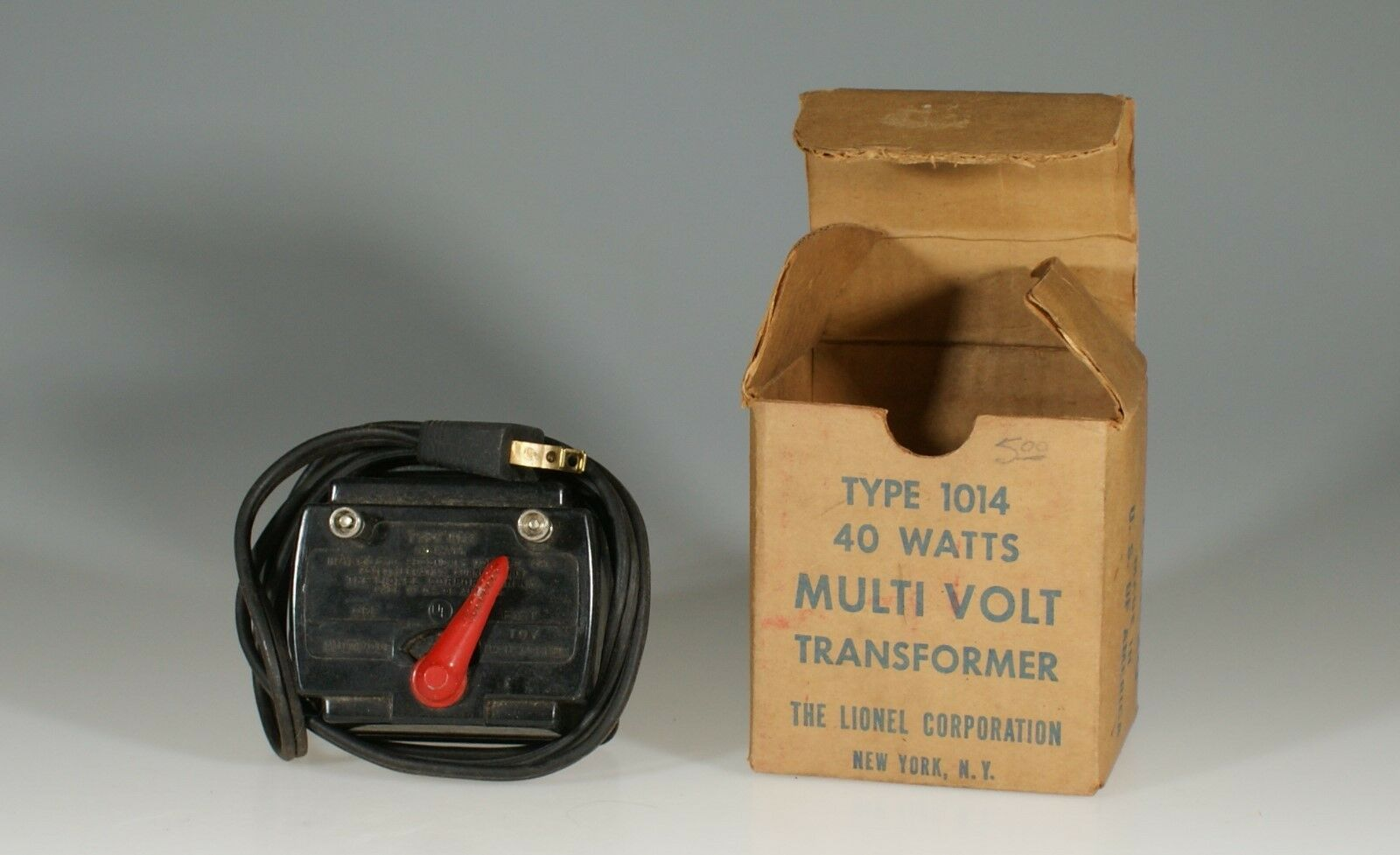 Vintage Lionel Train Type 1014 Multi Volt Transformer (Boxed), Made in U.S.A.