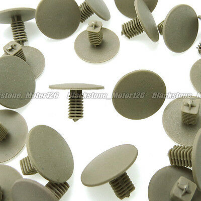 "100 Fit 1//4/"" Hole Plastic Rivet Push In Fastener Bumper Fender Trim Molding Clip"