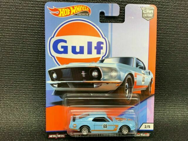 HOT WHEELS 1//64 CAR CULTURE GULF 1969 FORD MUSTANG BOSS 302