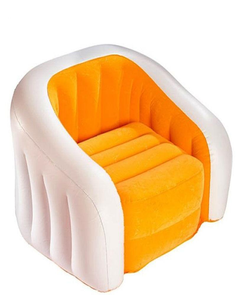 Sillon Hinchable orange plástico resistente ( hasta 100kg) Medidas  97x76x69cm