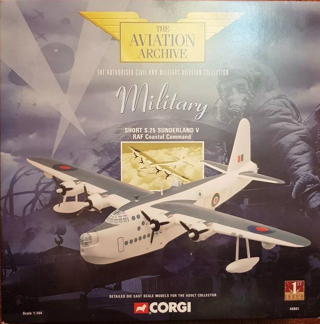 CORGI AVIAZIONE SHORT S.25 Sunderland V RAF ciastal COMANDO 48801 1st Edizione