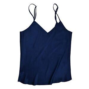 Jasmine-Silk-Pure-Silk-Camisole-Chemise-Vest-Navy