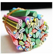 10 tiges batons cane fimo Bijoux 3D Ongles nail feuilles  +lame
