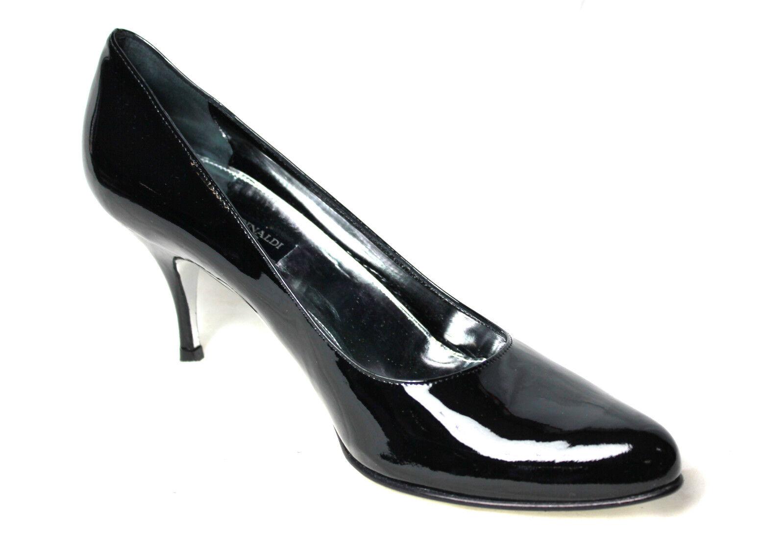 Descuento barato MARINA RINALDI zapatos de mujer charol negra 100% piel MADE IN ITALY talla 41