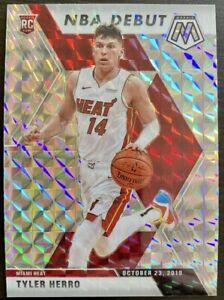 2019-20 Panini Mosaic Tyler Herro Silver Prizm Rookie RC NBA Debut Miami Heat 🔥