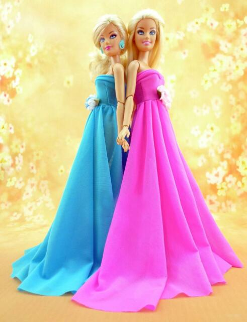 2pcs High quality Original wedding gown wears clothes Outfit Barbie Doll z47+z94