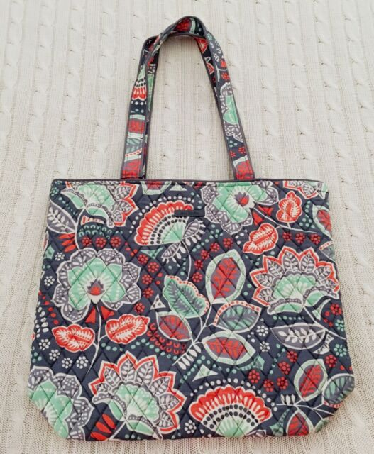 3efcc335b01 Vera Bradley Tote Nomadic Floral Gray Work School Travel Cotton Exact MSRP   49