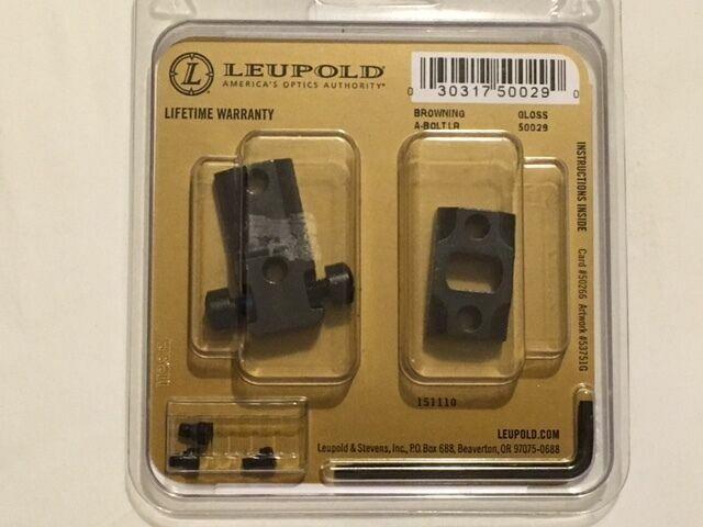 Leupold 2 Peice Rifle Base Set STD Browning A-bolt LR Sako A7 Black 50029 for sale online