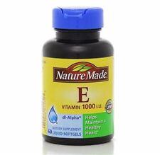 Nature Made dl-Alpha Vitamin E 1000 IU Softgels 60 ea