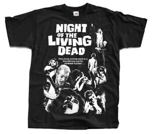 Night of the Living Dead V8 BLACK ALL SIZES S-5XL poster 1968 T-Shirt