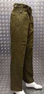 Genuine Old Pattern British Army No2 Trousers Buttoned Fly Wwii Re-enactment Uniforms & Bdus