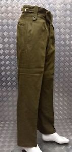 Genuine Old Pattern British Army No2 Trousers Buttoned Fly Wwii Re-enactment Collectibles